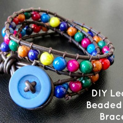 DIY Leather Beaded Wrap Bracelet