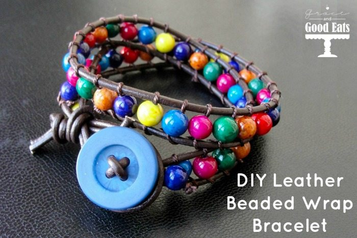 Diy Leather Beaded Wrap Bracelet Grace And Good Eats