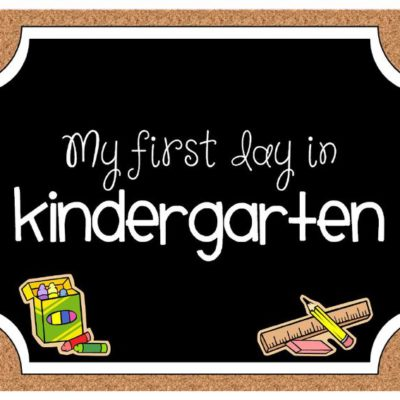 Free Kindergarten Photo Printable