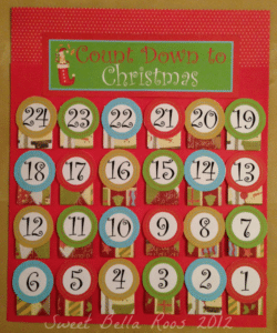 photo about Advent Calendar Printable called Cost-free Introduction Calendar Printable- Cute Bella Roos