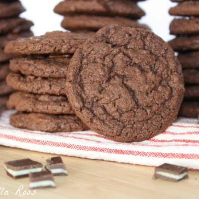 Triple Chocolate Mint Pudding Cookies