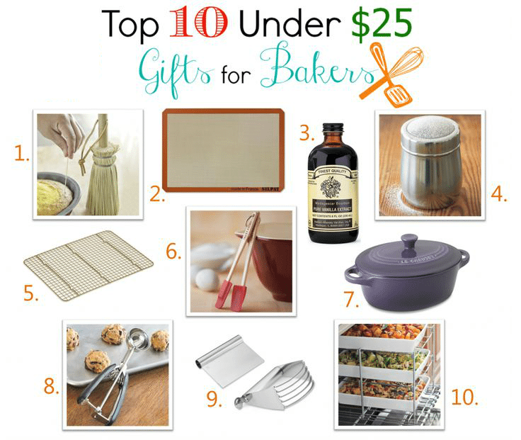 10 of my favorite gifts for bakers! All under $25 and all available on Amazon