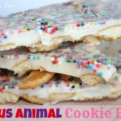 Circus Animal Cookie Bark