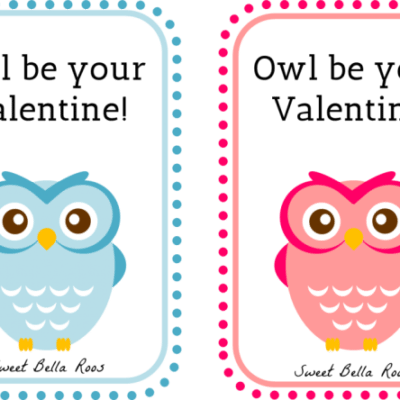 Owl Be Your Valentine- Free Printable