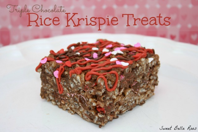 A cocoa krispies treat on a white plate.