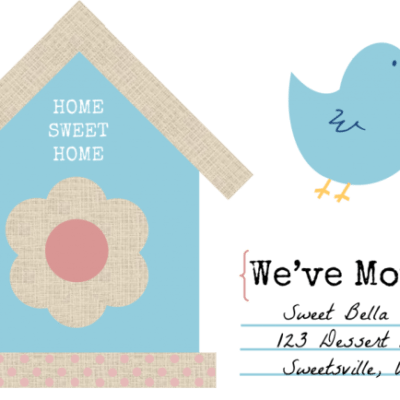"Free Change of Address Printable- ""We've Moved"""
