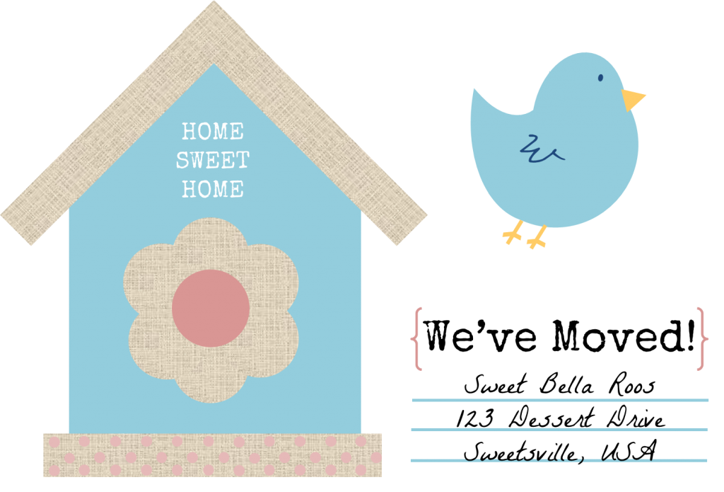 Free Change of Address Printable sweetbellaroos.com #printable #free #bluebird