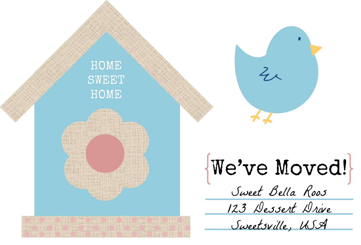 Free Change of Address Printables Sweet Bella Roos – Free Change of Address