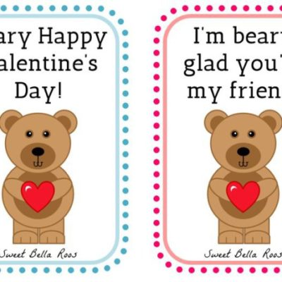 Beary Happy Valentine's Day- Free Printable