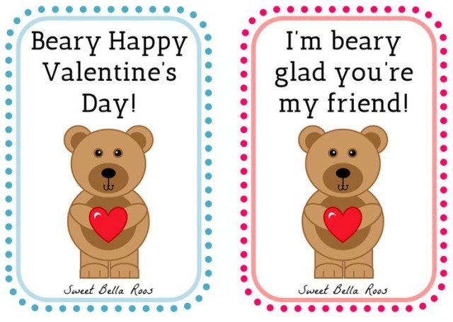 photograph about Happy Valentines Day Printable identify Cost-free Valentines Working day Printables- Lovable Bella Roos