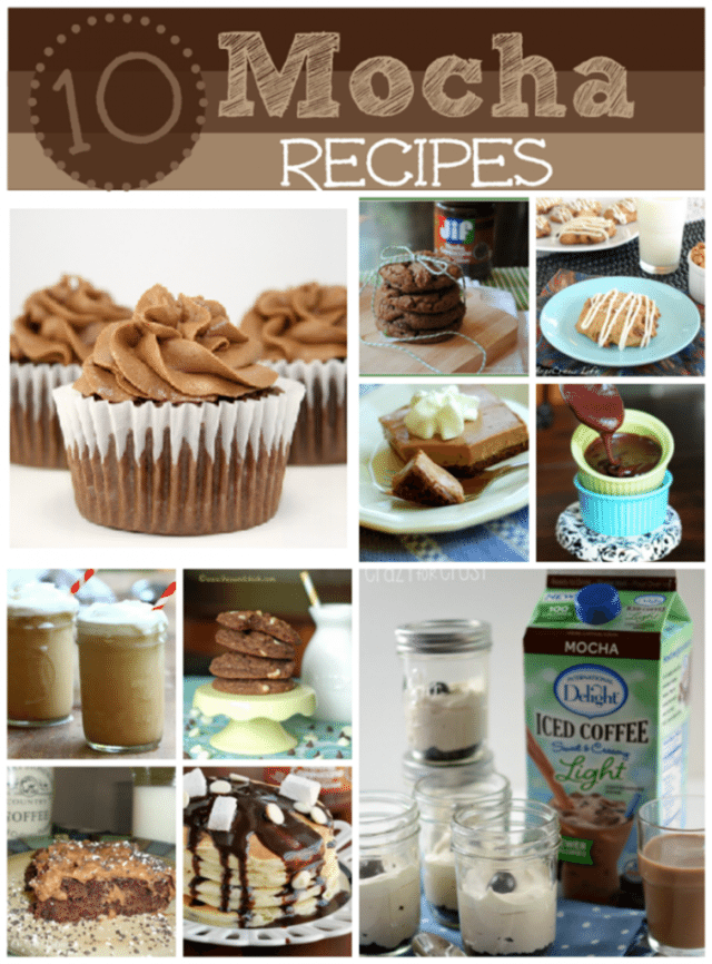 10 amazing mocha dessert recipes sweetbellaroos.com #mocha #chocolate #recipes