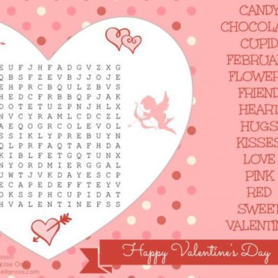 Free Valentine's Day Word Search Printable