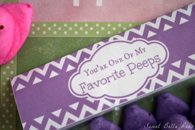 """You're One of My Favorite Peeps"" free printable sweetbellaroos.com #printable"