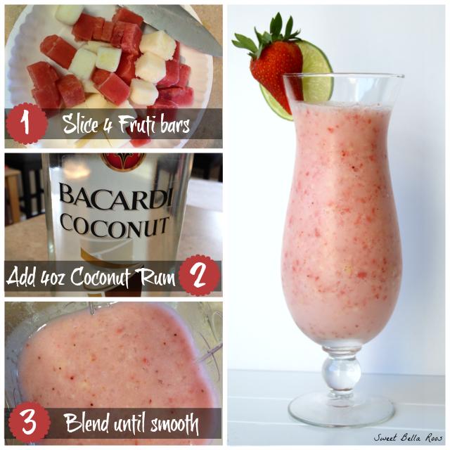 Simple & Refreshing Chunks O' Fruti Pina Colada #FreshNFruti