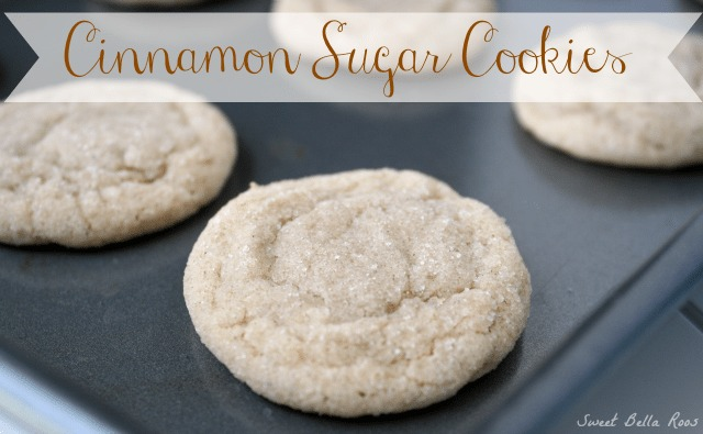 cinnamon sugar cookies on a baking sheet