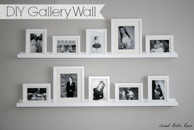 Gallery Wall Shelves diy photo gallery wall - grace and good eats