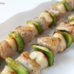 grilled pork kebabs with peaches and peppers