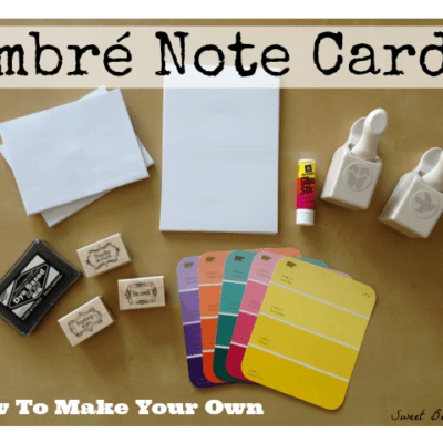 How to Make Ombre Note Cards