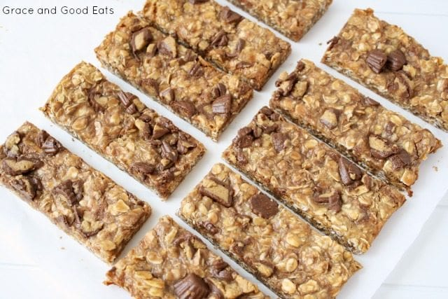 batch of sliced granola bars
