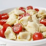 tortellini tossed with parmesan and tomatoes