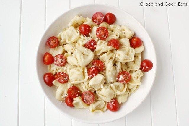 tortellini pasta in a bowl