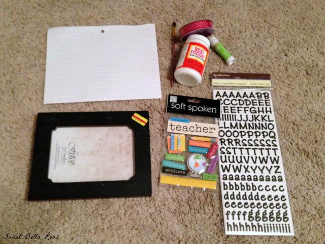Quick, easy, handmade teacher gift for under $20 #backtoschool