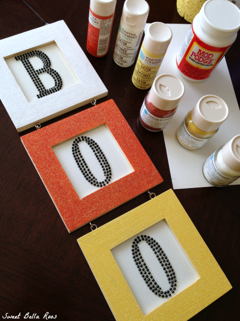 Easy DIY candy corn Halloween boo sign #craft #halloween
