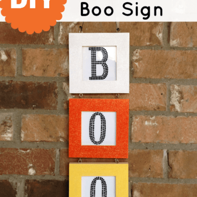 DIY Candy Corn Boo Sign