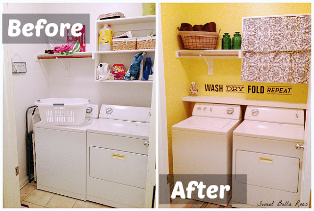 Laundry Room Makeover On A Budget Diy Shelves