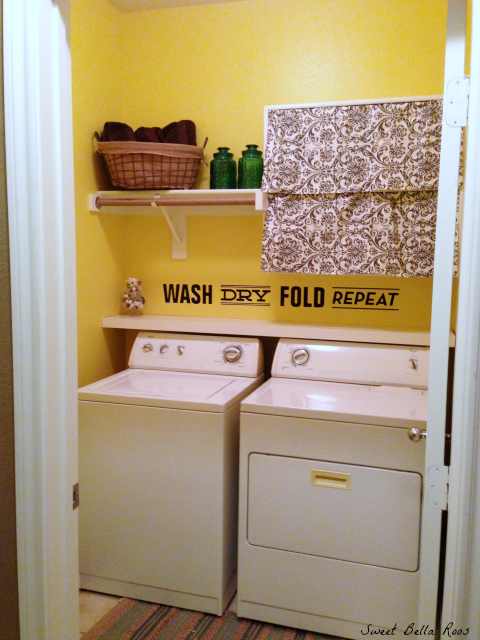 white laundry room
