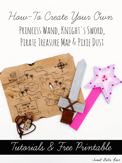 How To Make A Princess Wand Knight S Sword Pirate