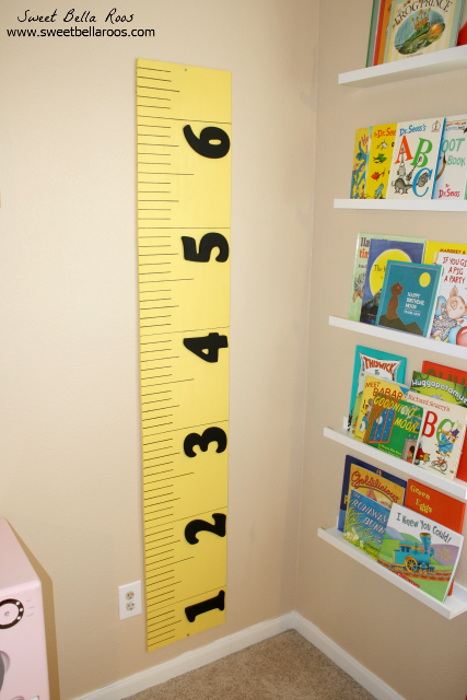 DIY Growth Chart (Pottery Barn Kids knockoff) #DIY