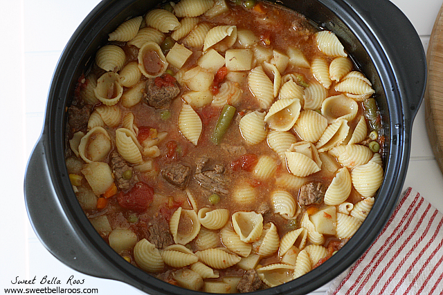 Beef & Vegetable Soup- my favorite for a cold day!