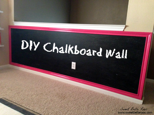 DIY chalkboard wall- perfect for the play room