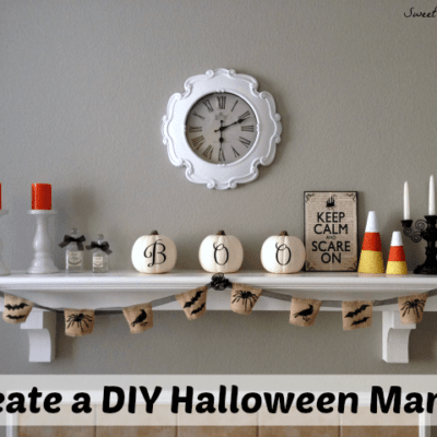 DIY Halloween Mantel Decor