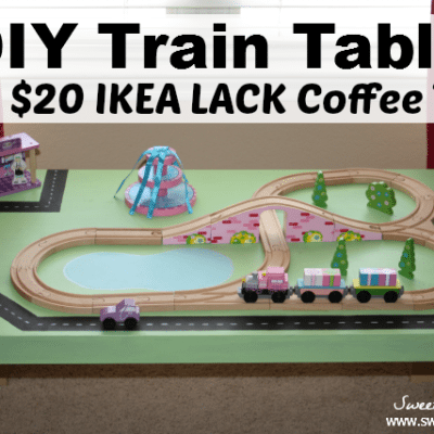 DIY Train Table: IKEA Hack