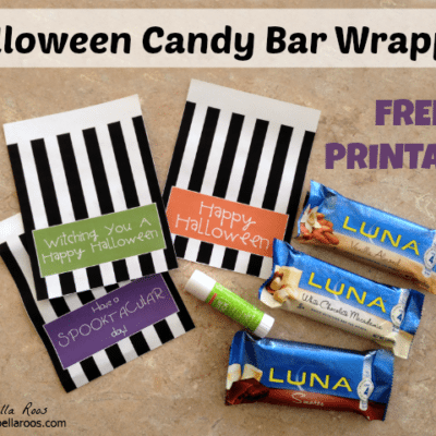 Halloween Candy Bar Wrapper Free Printable