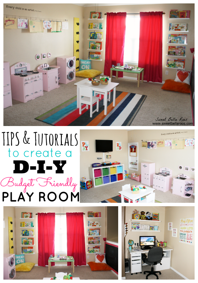 Tips & Tutorials to Create a DIY Budget Friendly Play Room #DIY