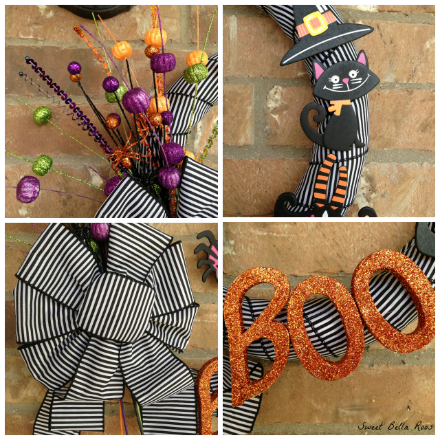 Super easy DIY wreath using premade products #diy #halloween