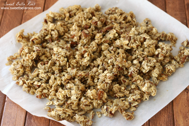 Chewy Pecan Pie Granola- so good for breakfast or as a snack!