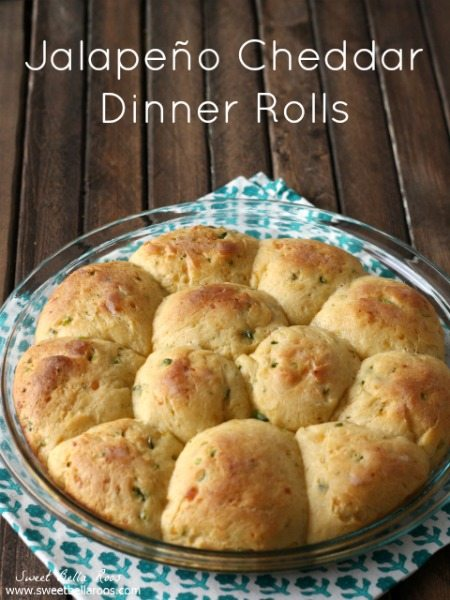 Jalapeno Cheddar Dinner Rolls- a savory twist on a classic dinner roll. Finally a simple recipe for yeast rolls!