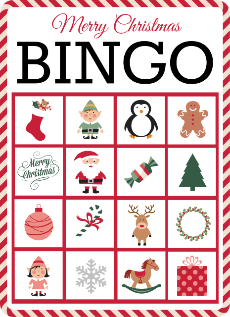 Christmas Bingo Free Printable Grace And Good Eats