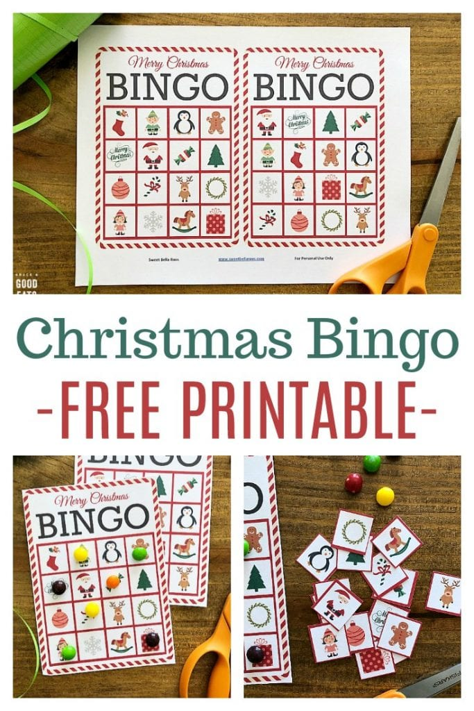 Christmas Bingo is one of our favorite holiday traditions- it's great fun for everyone from small children to older adults. These free bingo cards are perfect for a class party or to keep little ones busy while cooking!