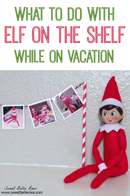 What to do with your Elf on the Shelf when you're away on vacation! Such a cute idea! #Christmas #ElfontheShelf