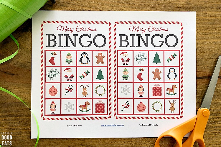 Christmas Bingo Free Bingo Cards Printable Grace And