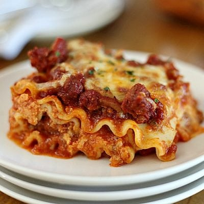 Easy Lasagna Without Ricotta Cheese