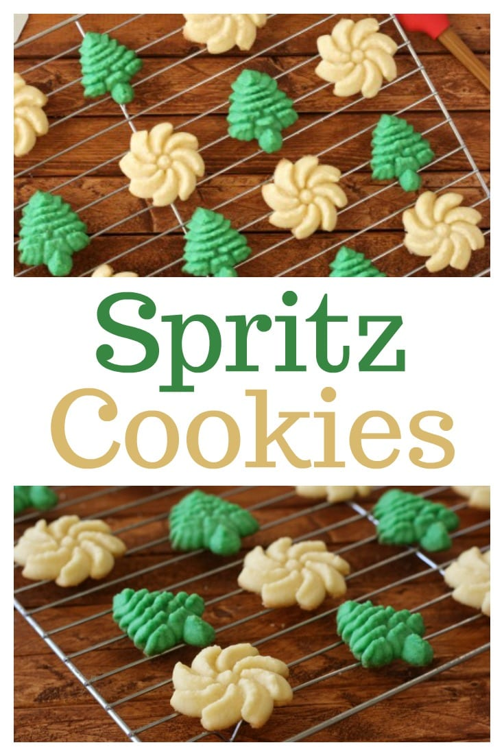 Create a new holiday tradition with this classic Spritz Cookies Recipe. These buttery cookies can be easily dressed up with sprinkles or different colors of dough!