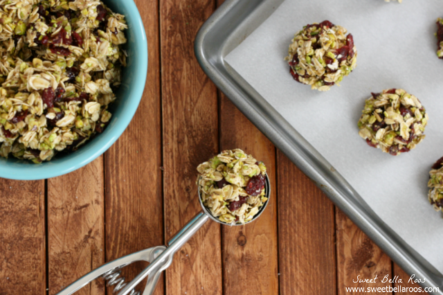 Cranberry Pistachio No Bake Energy Bites