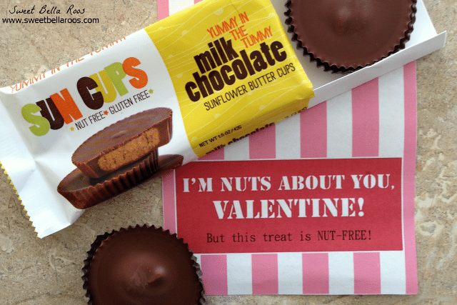 Valentine's Candy Bar Wrapper- NUT FREE!