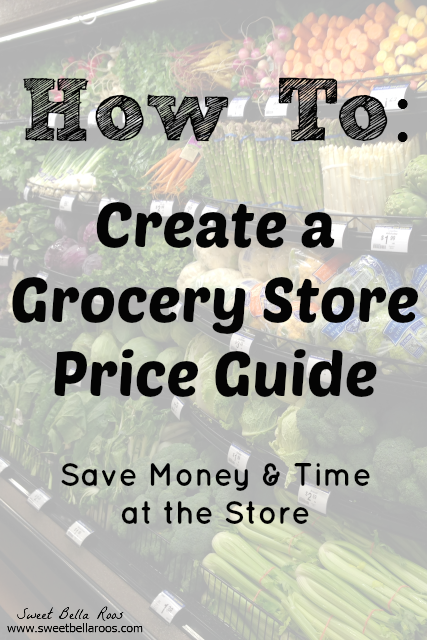 How to create a grocery store price guide.  This will save me tons of time and money!
